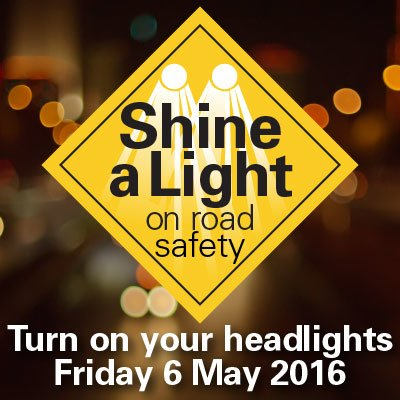 Shine a light on road safety poster