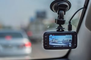 car video recorder in driving