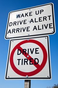 Drive alert road sign