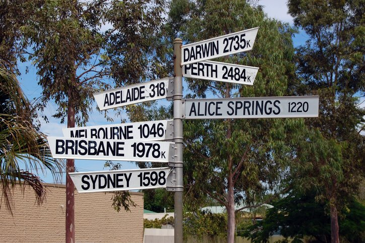 Direction signs Australia