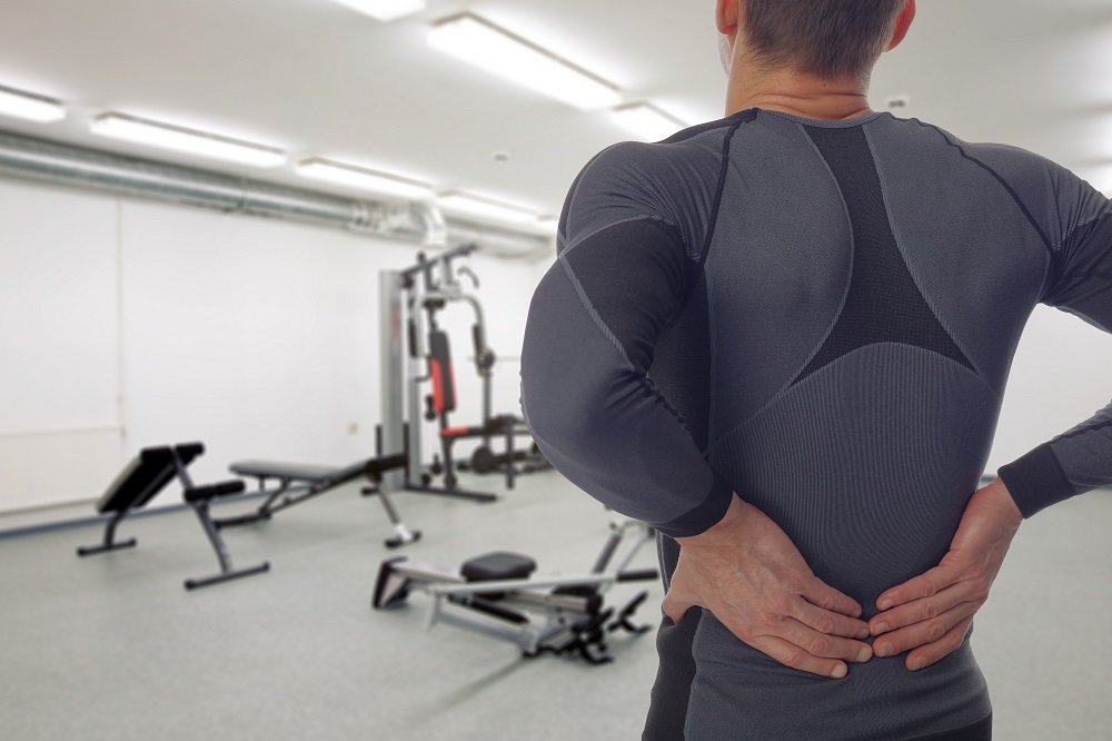 gym goer lower back injury